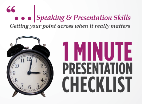 1-Minute Presentation Checklist