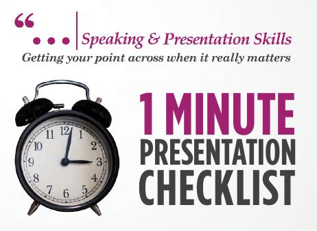 One Minute Checklist